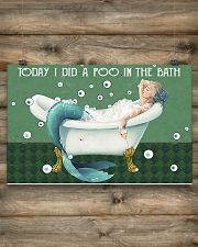 Today I did a poo in the bath 17x11 Poster poster-landscape-17x11-lifestyle-14