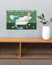 Today I did a poo in the bath 17x11 Poster poster-landscape-17x11-lifestyle-24