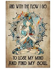 With the flow I go 11x17 Poster front