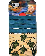 Turtle stained glass print Phone Case i-phone-8-case