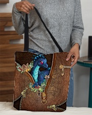 Dragon Christmas Leather Pattern Print All-over Tote aos-all-over-tote-lifestyle-front-10