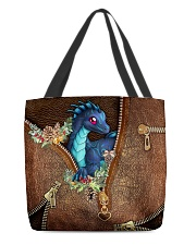 Dragon Christmas Leather Pattern Print All-over Tote front