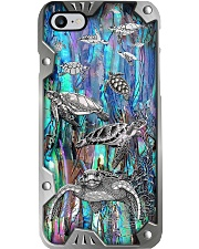 Turtle Lover Metal Pattern Print Phone Case i-phone-8-case