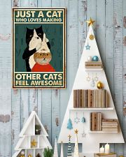 Just a cat who loves making other cats feel 11x17 Poster lifestyle-holiday-poster-2