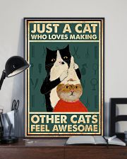 Just a cat who loves making other cats feel 11x17 Poster lifestyle-poster-2