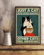 Just a cat who loves making other cats feel 11x17 Poster lifestyle-poster-3