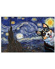 Corgi Dog Starry Night Dog lovers 17x11 Poster front