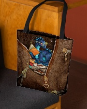 Book Dragon Leather Pattern Print All-over Tote aos-all-over-tote-lifestyle-front-02