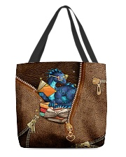 Book Dragon Leather Pattern Print All-over Tote back