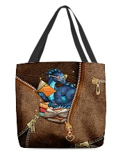 Book Dragon Leather Pattern Print All-over Tote front