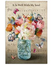 It is well with my soul butterfly flower vase 11x17 Poster front