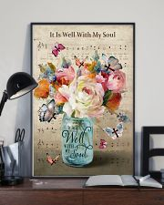 It is well with my soul butterfly flower vase 11x17 Poster lifestyle-poster-2
