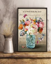 It is well with my soul butterfly flower vase 11x17 Poster lifestyle-poster-3