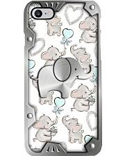 I love elephants Metal pattern print Phone Case i-phone-8-case