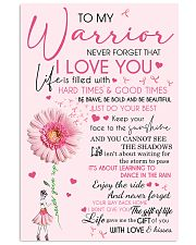 To my warrior 11x17 Poster front