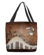 Keyboard tote leather pattern print All-over Tote back
