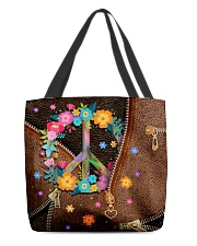 Peace Leather pattern print All-over Tote back
