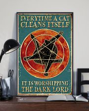 A cat cleans itself 11x17 Poster lifestyle-poster-2