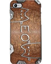 Meow Metal Pattern Print Phone Case i-phone-8-case