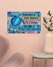Sometimes in the waves of change 17x11 Poster poster-landscape-17x11-lifestyle-22