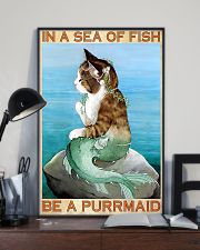 Be A Purrmaid 11x17 Poster lifestyle-poster-2