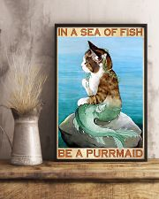 Be A Purrmaid 11x17 Poster lifestyle-poster-3