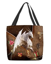 Christmas Leather Pattern Print Tote All-over Tote front