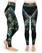 Green Turtle  High Waist Leggings front