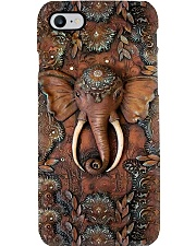 Elephant wooden pattern print Phone Case i-phone-8-case