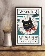 Warning don't feed the cat  11x17 Poster lifestyle-poster-3