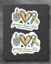 Peace Love T21 Sticker - 4 pack (Horizontal) aos-sticker-4-pack-horizontal-lifestyle-front-10