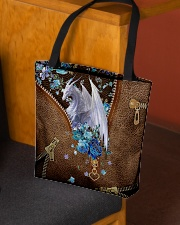 Dragon and flowers All-over Tote aos-all-over-tote-lifestyle-front-02