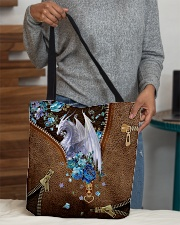 Dragon and flowers All-over Tote aos-all-over-tote-lifestyle-front-10