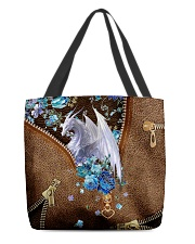 Dragon and flowers All-over Tote front
