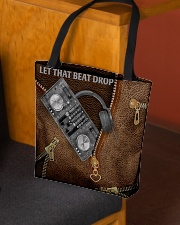 Let that beat drop Leather pattern print All-over Tote aos-all-over-tote-lifestyle-front-02