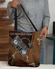 Let that beat drop Leather pattern print All-over Tote aos-all-over-tote-lifestyle-front-10