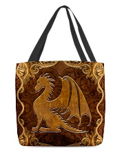 Dragon Faux Leather All-over Tote back