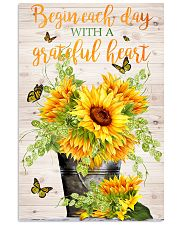 Begin each day with a grateful heart 11x17 Poster front