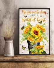 Begin each day with a grateful heart 11x17 Poster lifestyle-poster-3