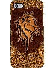 Love Horses Leather Pattern Print  Phone Case i-phone-8-case