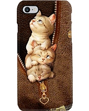 Love cats leather pattern print Phone Case i-phone-8-case