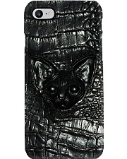 Cat Leather Pattern Print Phone Case i-phone-8-case