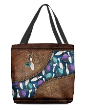 Bowling rug leather pattern print All-over Tote front