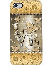 Love bee - pattern print Phone Case i-phone-8-case