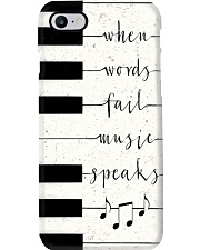 When words fail music speaks Phone Case i-phone-8-case