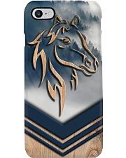 Horse Faux Wood Print Phone Case i-phone-8-case