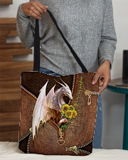 You Are My Sunshine Leather Pattern Print  All-over Tote aos-all-over-tote-lifestyle-front-10