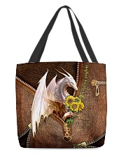 You Are My Sunshine Leather Pattern Print  All-over Tote back
