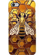Bee A Queen Stained Glass Pattern Print Phone Case i-phone-8-case