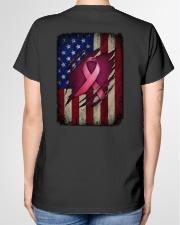 Ribbon flag Independence day Ladies T-Shirt garment-tshirt-ladies-back-01